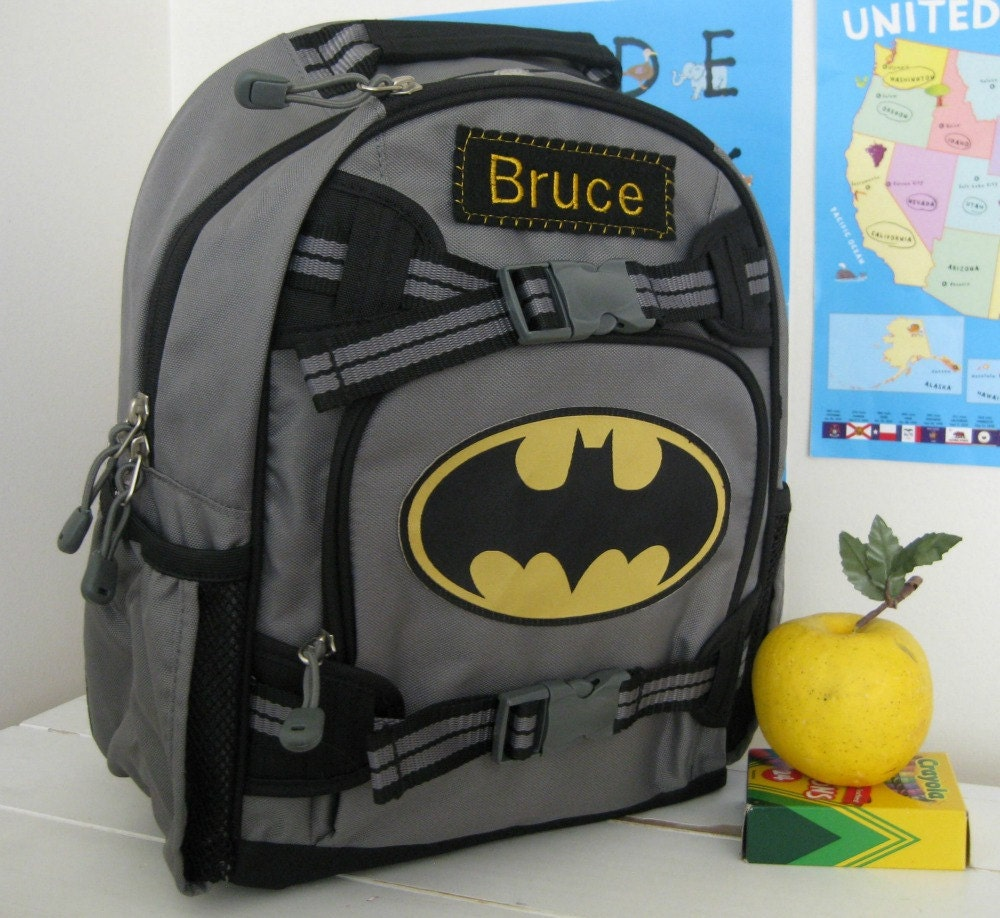 Personalized Kids Backpack Pottery Barn Small Size Batman