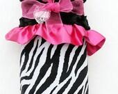 Minky Lovey Little Zebra