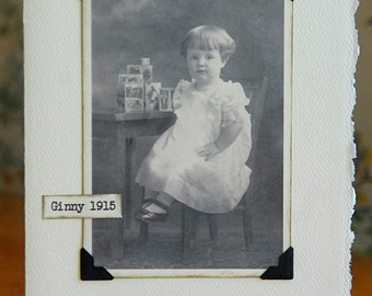 Antique Photo Little Girl Note Card