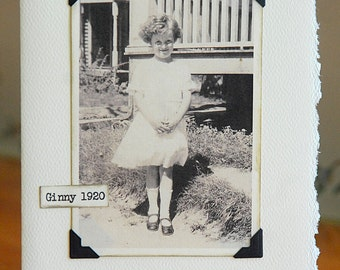 Vintage Photo Note card little girl free shipping chris peters mementos of the journey
