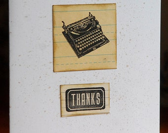 Retro Office supplies blank note card