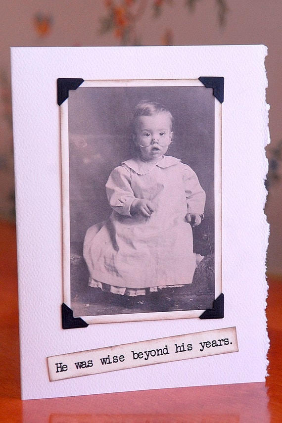 Antique Photo Baby Boy Notecard free shipping chris peters mementos of the journey