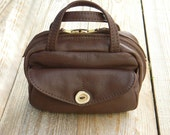 The  Purse/Apothecary Bag in Dark Brown/Chocolate Custom Order Reserved for Jane