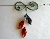 Hair Pin, Falling Leaves