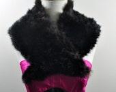 Vtg Brown Plush Fur Collar