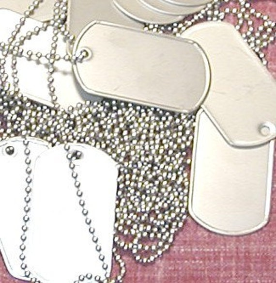 Reserved Listing - COMBO QTY 25/25 -  30 inch ball chains and dog tags