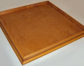 Large 36 x 36 Custom Handmade Golden Pecan Stained Ottoman Tray