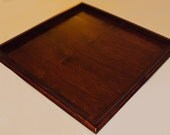 36x36 Red Mahogany Stained Ottoman Tray