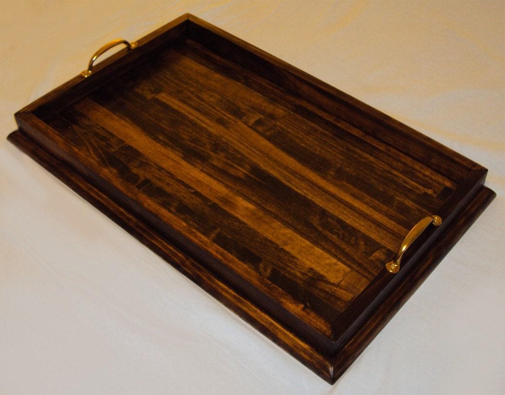 Dark Wood Ottoman ~ Handmade dark walnut stained wood ottoman by goodstuffhandmade