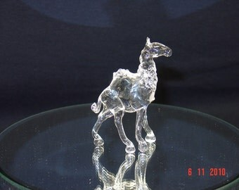 small glass camel