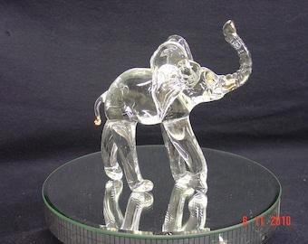 Handmade glass elephant