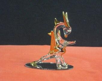 Gold Glass Dragon