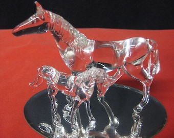 Glass horse and colt