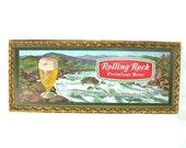Rolling Rock Beer Sign Vintage Bar Sign Latrobe Brewing Co PA