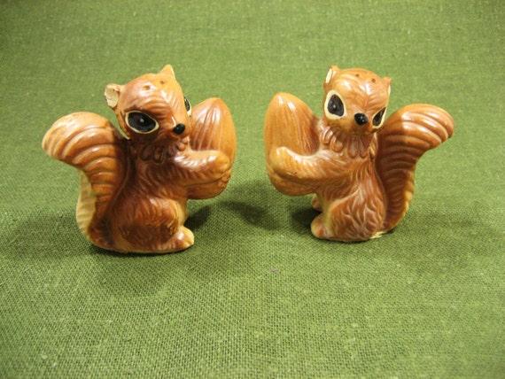 Squirrel / Chipmunk Vintage Salt and Pepper Shakers