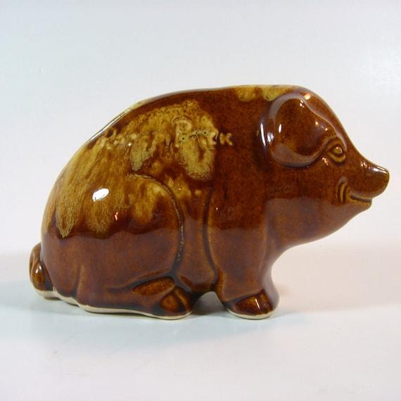 Vintage Ceramic Razorback Piggy Bank