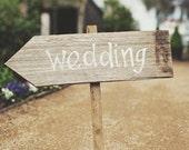 wedding sign - rustic quirky beach wedding