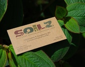 """250 Business Cards or tags 3.5""""X2"""" - printed on 20 PT THICK Kraft board/paper - single Sided - environmentally friendly"""