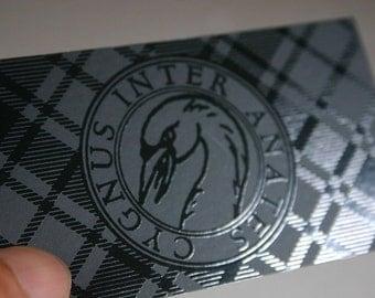 500 Business Cards - Spot UV one side - 14 PT matte stock - custom printed