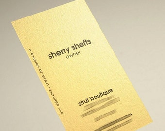 200 Business Cards - Star Gold stock - custom printed