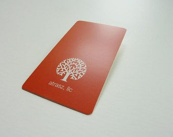 """500 Business Cards or Hang tags -  16 PT Matte dull cover stock -  3.5""""x2"""" -  custom printed"""