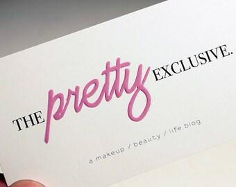200 Business Cards - ink press embossing - 14PT matte stock -  custom printed