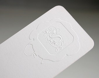 "200 slim Business Cards - blind embossed - 14PT matte stock -  custom size 3.5""x1.5"" - custom printed"