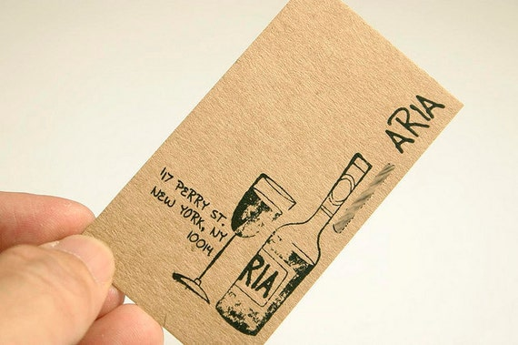 200 Business Cards or tags 13 PT brown kraft paper