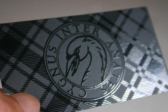 200 Business Cards - Spot UV one side - 14 PT matte stock - custom printed