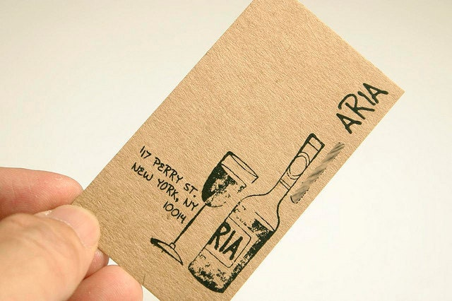 200 business cards or tags 13 pt brown kraft paper for 200 business cards