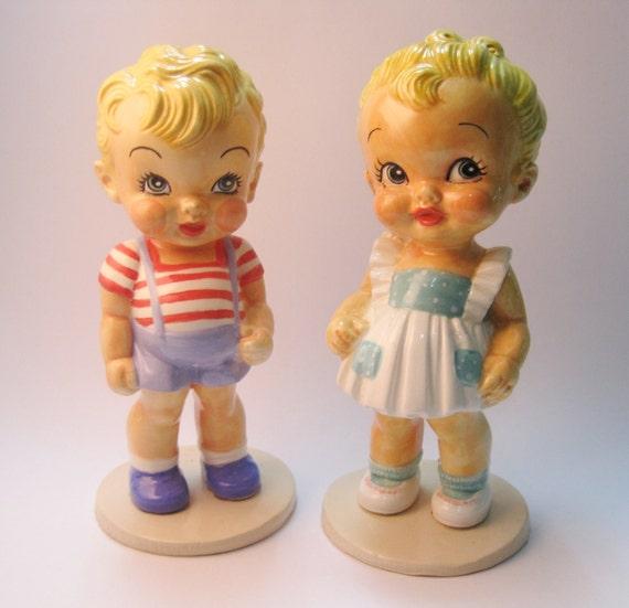 Handmade Ceramic figurines  vintage style-  Order in advance