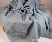 Newborn Photography Prop - SWADDLE WRAP - Blue Slate Knit Fabric