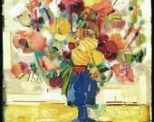 Torn Floral Bouquet Magazine Collage