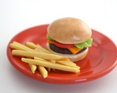 Cheeseburger  French Fries Food for 18 Inch Dolls American Girl