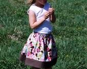 DIY Sewing Girls Skirt Kit - Vintage Floral Print  Baby Toddler Girls