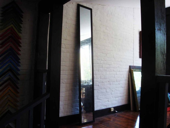 DEPOSIT-- Hold for Cynthia- Very Tall Verre Eglomise Wall Mirror