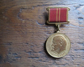 Back in the USSR .... soviet Lenin centenary medal collectible award badge pin