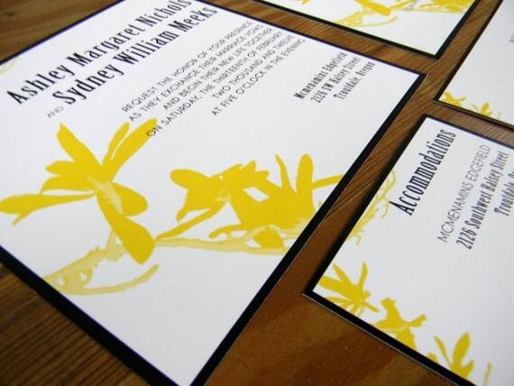 Items similar to magnolia tree branch wedding invitations for Magnolia tree wedding invitations