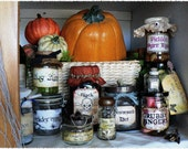 Witches Apothecary Jar Labels - Set of 13