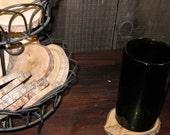 Natural Wood Coasters - 4 set