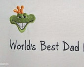 T shirt-Worlds best dad...prince frog-XL-tee shirt-Fathers Day
