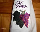 WINE APRON-size small-Vino with grapes