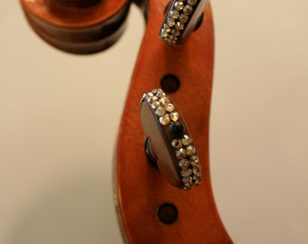 "Set of Violin Pegs with Swarkovski Crystals - ""The Luxe"""