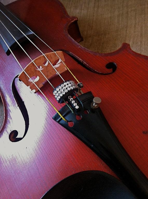 Violin/Viola Swarovski Crystal Color Bech Mute - MAGNETIC