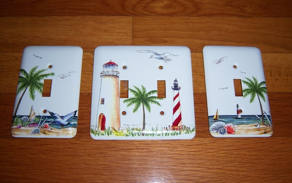 Custom order - Nautical themed light switch covers