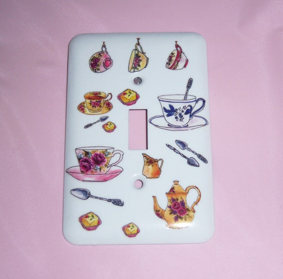 Teacups single steel light switch cover