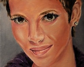 Halle Berry Oil Painting