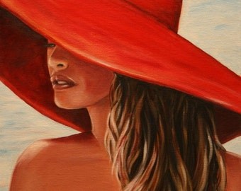 Lady in Red 20 x 16