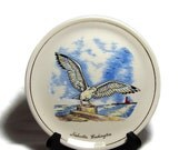 Vintage Beach Decor Plate Seagull Lighthouse Nachotta Washington