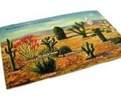 Vintage Postcard Desert Cactus Southwest Miniature Art